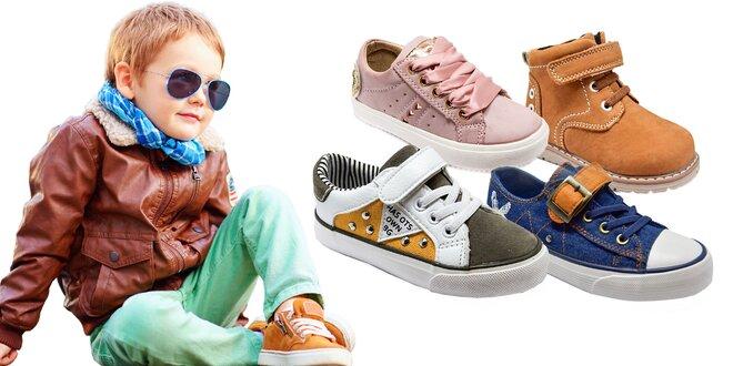 Pekné a pohodlné detské topánočky na jar