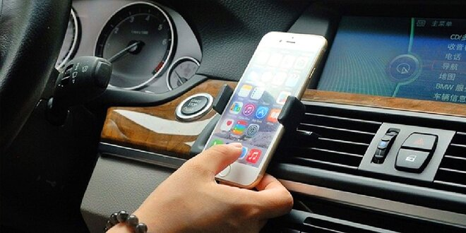 Držiaky na mobil do mriežky ventilácie auta