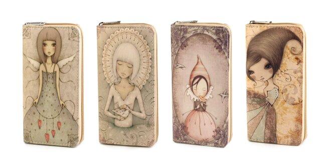 Dámska peňaženka s VINTAGE obrázkom  2a5446c2b61