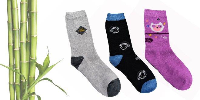 0ef6178718c1 Detské antibakteriálne bambusové ponožky  5 párov