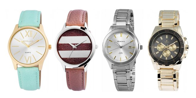 Elegantné dámske a pánske hodinky  92f99302359