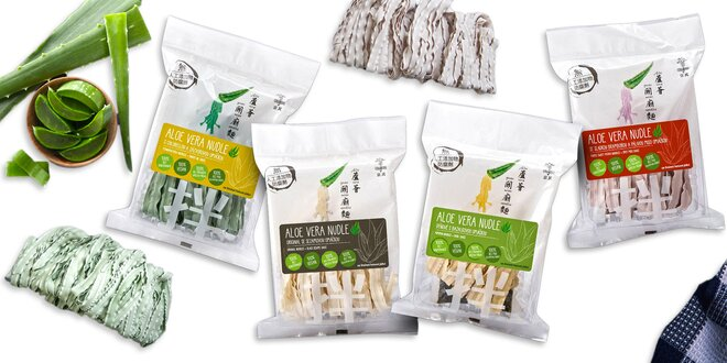 Zdravé jedlo: aloe vera rezance so 4 druhmi omáčok
