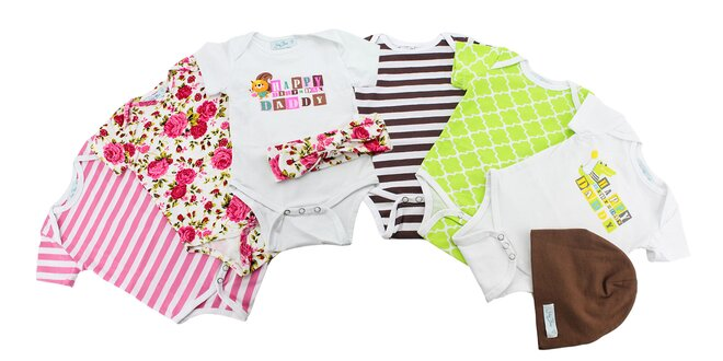 Krásne kojenecké body pre chlapcov i dievčatká