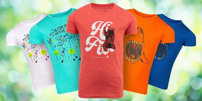 Štýlové a kvalitné detské tričká Alpine Pro