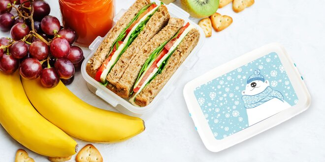 Box na jedlo z ekologického plastu s klipom