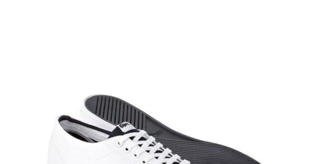 Pánske biele kožené tenisky s logom Lacoste
