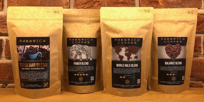 100, 225 a 1000 g balenia káv od Fabbrica Coffee