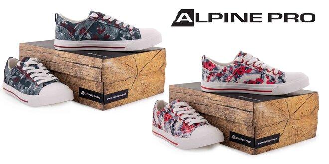 Dámske tenisky Alpine Pro s kvetinovým vzorom