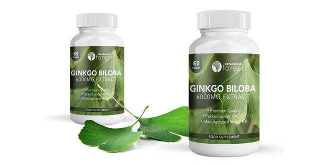 60 tabliet Ginkgo biloba (6000 mg)
