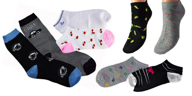 "Vysoké, nízke či ""ťapky"" ponožky pre každého!"