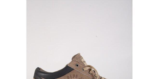 Pánske hnedošedé semišové tenisky Pepe Jeans  53cfdc95c7e