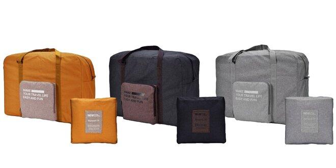 2544f5e1fa705 Skladacia cestovná taška, ideálna príručná batožina | Zlavomat.sk
