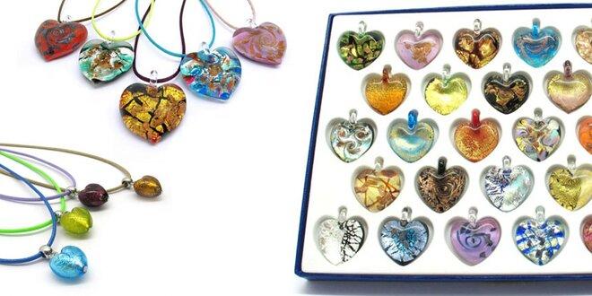 Romantické prívesky a náhrdelníky z muránskeho skla