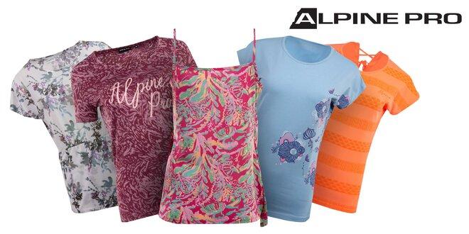 6fc9260be0d1 Dámske tričká Alpine Pro s nápismi aj vzorom