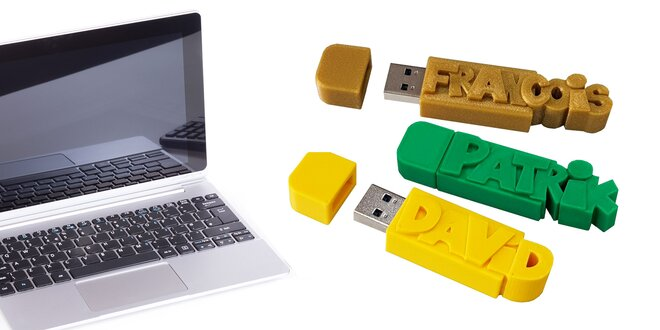 USB kľúč s vaším menom alebo textom