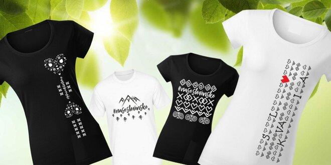 Dámske a pánske tričká #naseslovenske