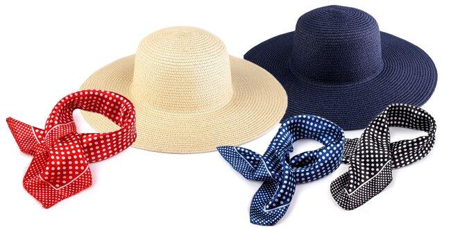 Štýlové dámske klobúky a šatky na leto
