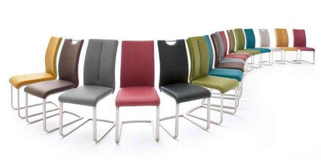 Barové či jedálenské koženkové stoličky