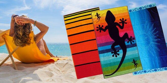 Obojstranné plážové osušky OXK z egyptskej bavlny