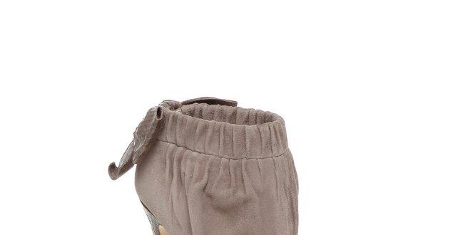 16d4d21b3f57 Štýlové béžové topánky Bourne s vysokým opätkom