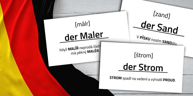 Nemecké jazykové kartičky Mnemory