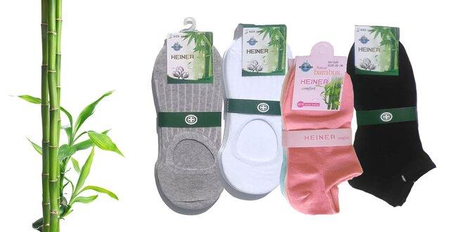 Bambusové ponožky rôznych dĺžok – 6 párov
