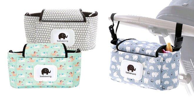 Praktické tašky na kočík v 6 farbách