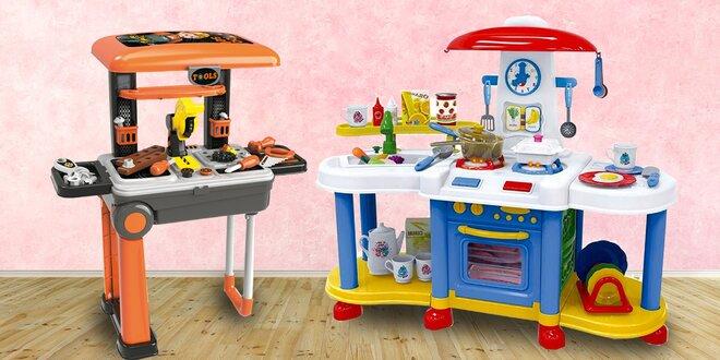 Detské kuchynky, kufor s náradím aj doktorský kufrík