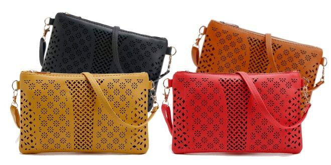 Listová kabelka: perforovaný dizajn v 5 farbách