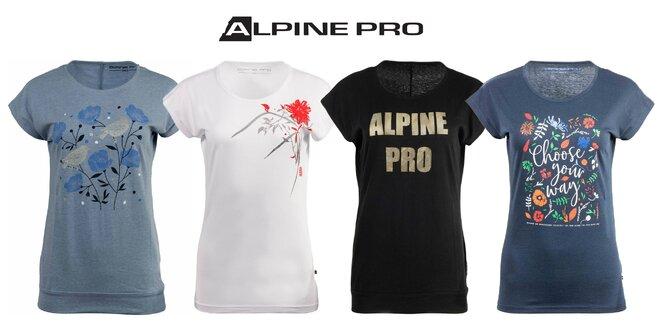 Značkové dámske tričká Alpine Pro