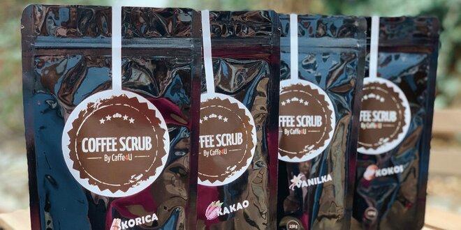 Kávový peeling pre jemnú pokožku v 4 vôňach