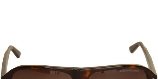 Hnedé slnečné okuliare Emporio Armani  a11ae3260c3