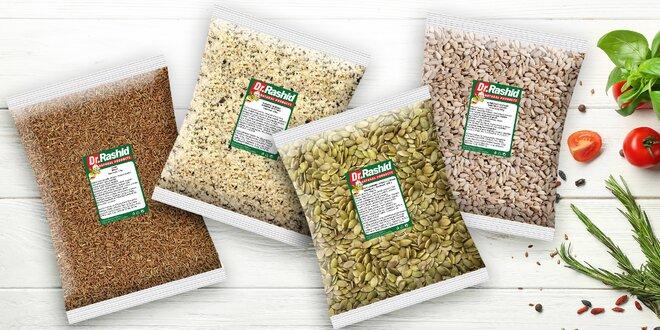 Semienka v balení 500 aj 1000 g: ľanové i konopné