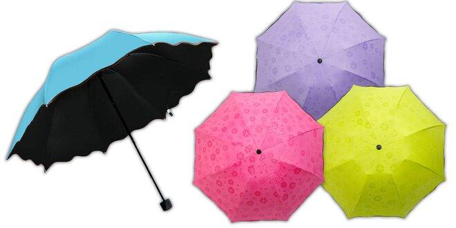 Magický dáždnik, ktorý v daždi vykúzli kvety