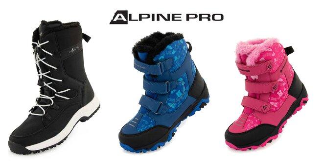 Detská zimná obuv od Alpine Pro