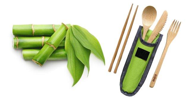 Ekologický cestovný príborový set z bambusu