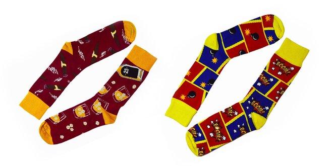 Pánske ponožky s veselými motívmi