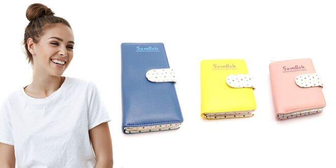 Bodkované dámske peňaženky