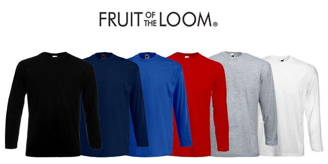 Pánske tričká Fruit of the Loom s dlhým rukávom