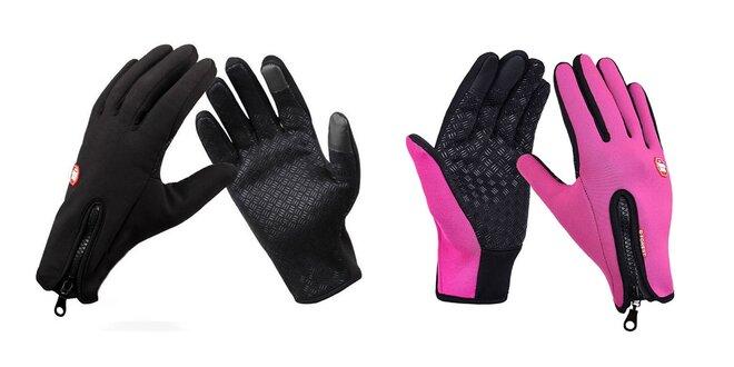 Vodeodolné termo rukavice zateplené flísom