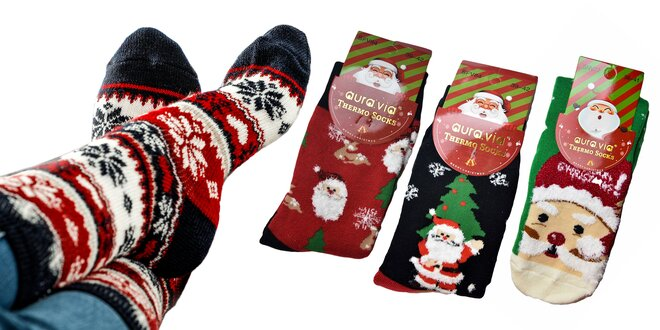 Veselé dámske, pánske a detské termo ponožky