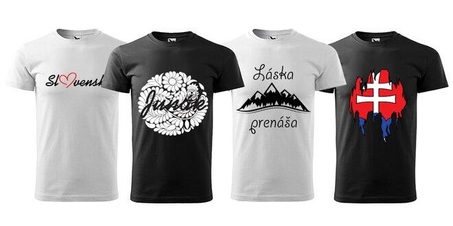 Pánske tričká s potlačou slovenského motívu