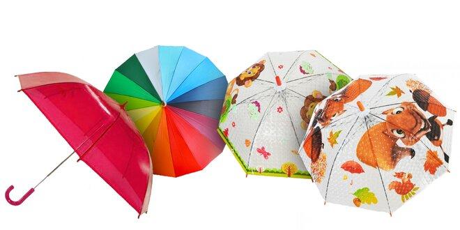 Dáždniky pre deti aj dospelých: 26 vzorov
