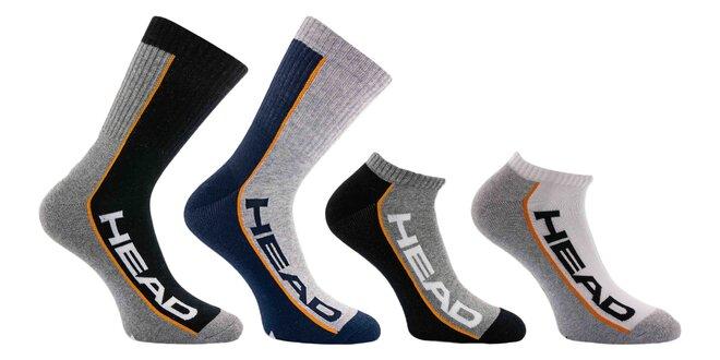Vysoké aj nízke unisex ponožky Head