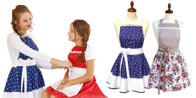Za dámu aj v kuchyni! Zástery v tradičných slovenských vzoroch.