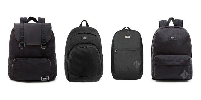 Štýlové čierne batohy značky Vans