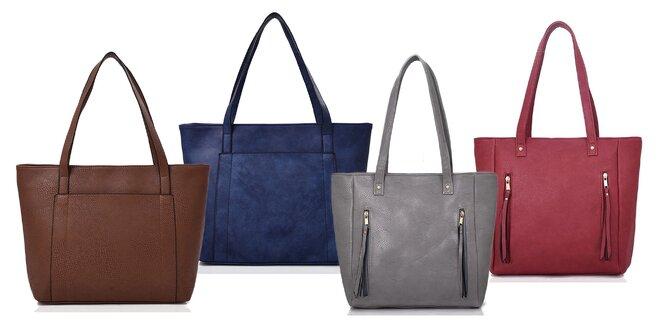 Dámske priestranné kabelky: 2 druhy