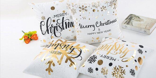 Poťahy na vankúš s vianočnými motívmi