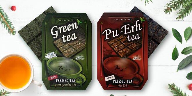 Kvalitné lisované čaje: zelený aj Pu-Erh