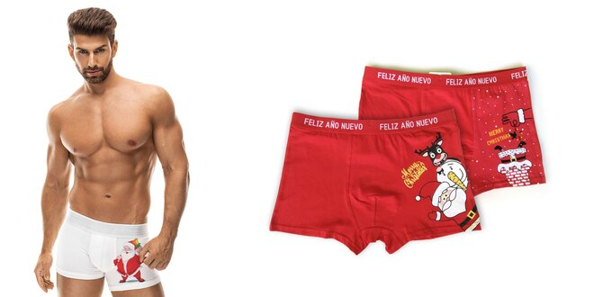 Veselé vianočné boxerky pre pánov